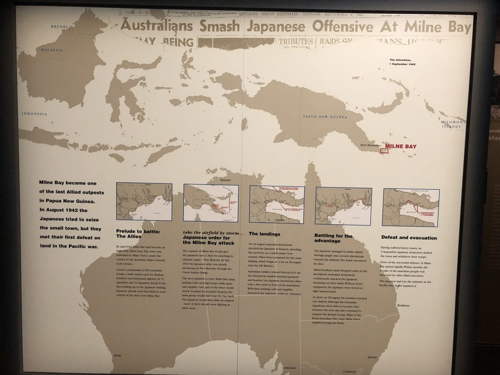 War Memorial Museum Display Milne Bay